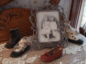 Irene Room antique baby shoes